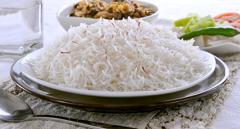 Cooked basmati rice